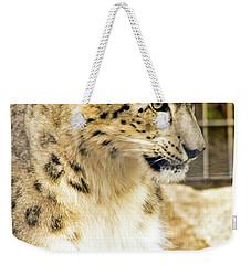 Snow Leopard 1 Weekender Tote Bag by Ayasha Loya