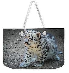Snow Leopard Cub Weekender Tote Bag
