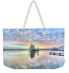 Snow Light Weekender Tote Bag by Nadia Sanowar