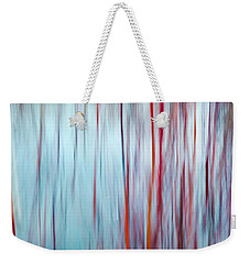 Snow Melt In The Wetlands Red Weekender Tote Bag