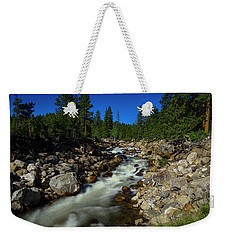 Snow Melt Stream Weekender Tote Bag