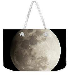 Snow Moon Weekender Tote Bag by John Black
