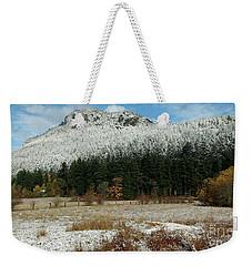 Snow On Mt. Maxwell Weekender Tote Bag