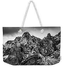 Weekender Tote Bag featuring the photograph Snow On Peaks 46 by Mark Myhaver