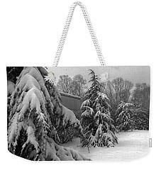 Snow On Pines Weekender Tote Bag