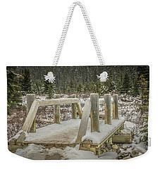 Snow On The Bridge Weekender Tote Bag by Bill Howard