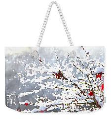 Snow On The Maple Weekender Tote Bag