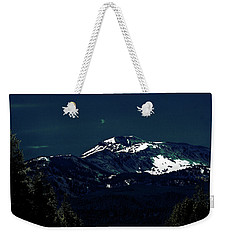 Snow On The Mountain At Night Weekender Tote Bag