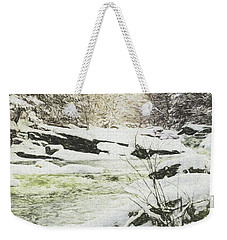 Snow On The Natchaug Weekender Tote Bag