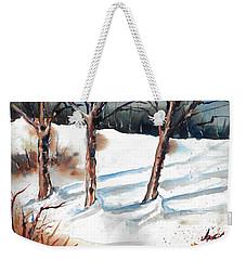 Snow Orchard Weekender Tote Bag