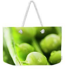 Snow Peas Or Green Peas Seeds Weekender Tote Bag by Vishwanath Bhat