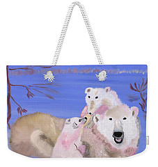 Frosty Polar Love Weekender Tote Bag