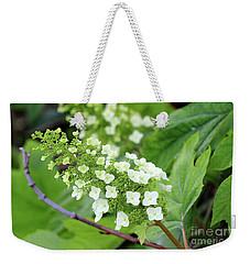 Snow Queen Hydrangea Weekender Tote Bag