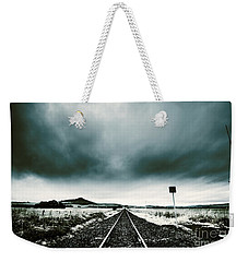 Weekender Tote Bag featuring the photograph Snow Railway by Jorgo Photography - Wall Art Gallery