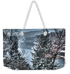 Weekender Tote Bag featuring the photograph Snow Squall by Tom Cameron