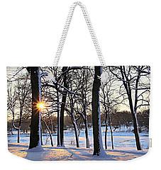 Snow Starred Grove Weekender Tote Bag