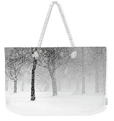 Snow Storm At Starved Rock Weekender Tote Bag