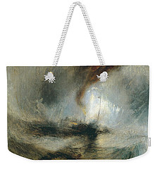 Weekender Tote Bag featuring the painting Snow Storm by Joseph Mallord William Turner