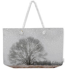 Snow Storm Tree Weekender Tote Bag