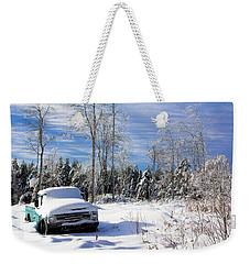 Snow Truck Weekender Tote Bag