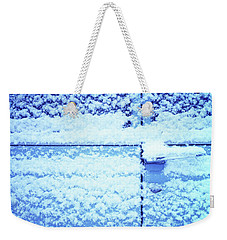 Weekender Tote Bag featuring the photograph Snow Van 51 Chevy Panel by Laurie Stewart