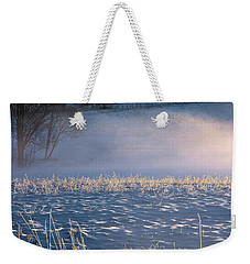 Snow Waves Weekender Tote Bag