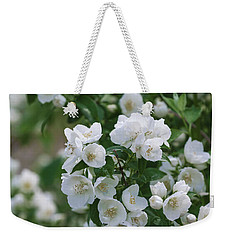 Weekender Tote Bag featuring the photograph Snow White Jubilee by Kim Hojnacki