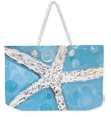 Snow White Starfish Weekender Tote Bag
