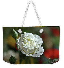 Weekender Tote Bag featuring the photograph Snow White by Stephen Mitchell