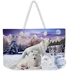 Snow Wolves Of The Wild Weekender Tote Bag