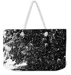 Weekender Tote Bag featuring the photograph Snow by Yulia Kazansky