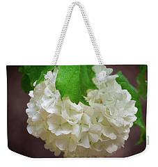 Snowball Bloom Weekender Tote Bag