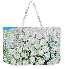 Snowballs Flowers Weekender Tote Bag