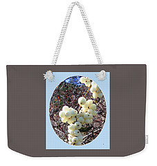 Weekender Tote Bag featuring the photograph Snowberry Cluster by Will Borden