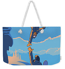 Snowboard High Five Weekender Tote Bag