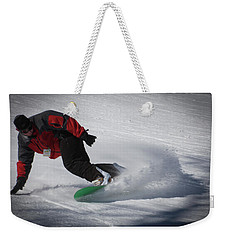 Weekender Tote Bag featuring the photograph Snowboarder On Mccauley by David Patterson