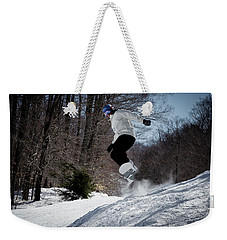 Weekender Tote Bag featuring the photograph Snowboarding Mccauley Mountain by David Patterson
