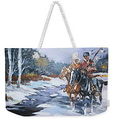 Snowbound Hunters Weekender Tote Bag