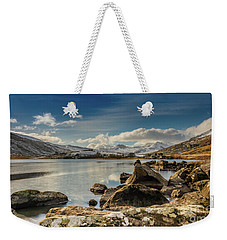 Weekender Tote Bag featuring the photograph Snowdon From Llynnau Mymbyr by Adrian Evans