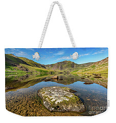 Weekender Tote Bag featuring the photograph Snowdonia Mountain Reflections by Adrian Evans