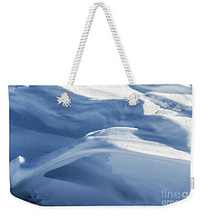 Weekender Tote Bag featuring the photograph Snowdrift Structure by Angela DeFrias