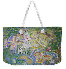 Snowdrop The Fairy And Friends Weekender Tote Bag by Judith Desrosiers
