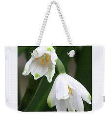 Snowdrops #4 Weekender Tote Bag by Kim Tran