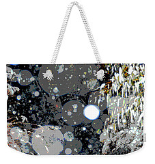 Weekender Tote Bag featuring the photograph Snowfall Deconstructed by Li Newton