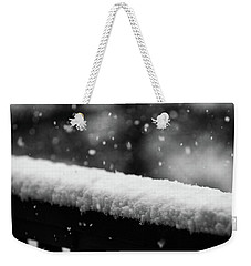 Snowfall On The Handrail Weekender Tote Bag
