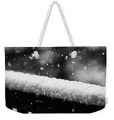 Snowfall On The Handrail Weekender Tote Bag