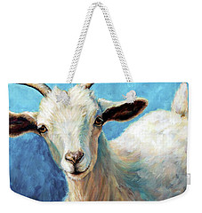 Snowflake, A Baby Cashmere Goat Weekender Tote Bag