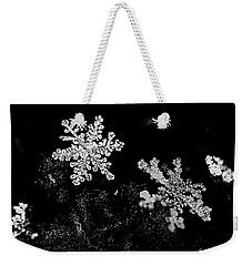 Snowflake Beauty Weekender Tote Bag by Shelly Gunderson