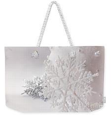 Snowflake Weekender Tote Bag by Cindy Garber Iverson