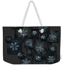 Snowflake Collage - Dark Crystals 2012-2014 Weekender Tote Bag by Alexey Kljatov
